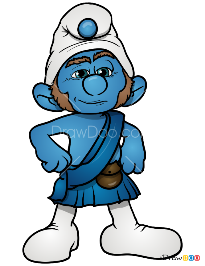 How to Draw Gutsy, Smurfs