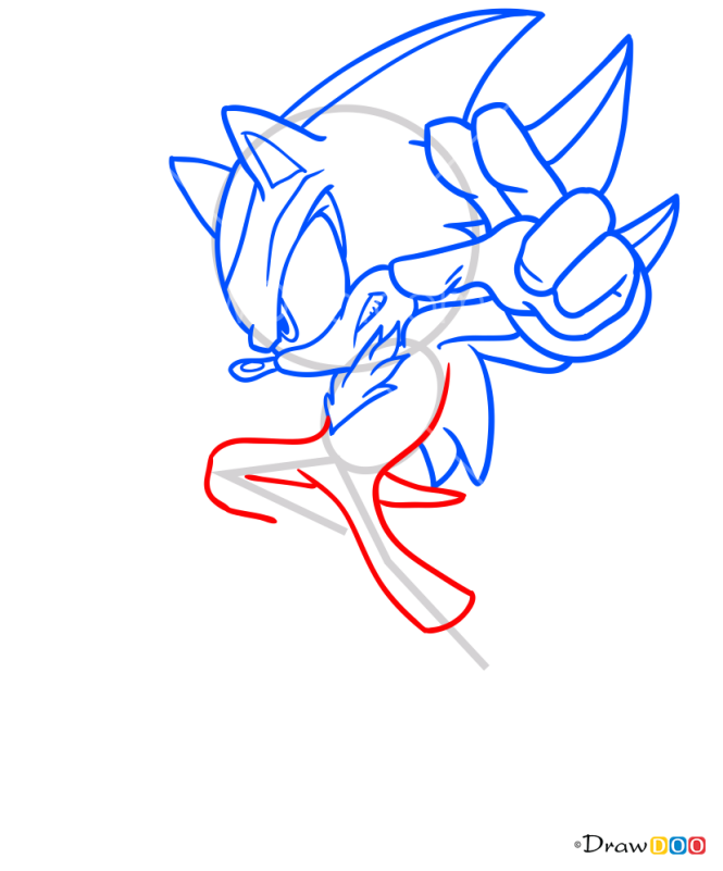 How to Draw Shadow the Hedgehog, Sonic the Hedgehog