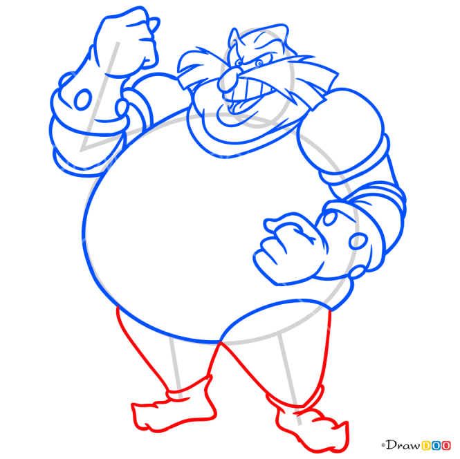 How to Draw Doctor Ivo Robotnik, Sonic the Hedgehog