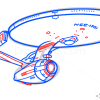 How to Draw USS Enterprise, Star Trek, Spaceships