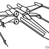How to Draw X-Wing, Star Wars, Spaceships