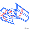 How to Draw Darth Vader TIE fighter, Star Wars, Spaceships