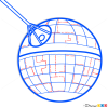 How to Draw Death star, Star Wars, Spaceships