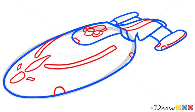 How to Draw Voyager, Star Trek, Spaceships