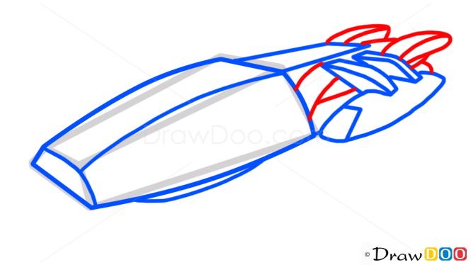 How to Draw Battlestar Galactica, Spaceships