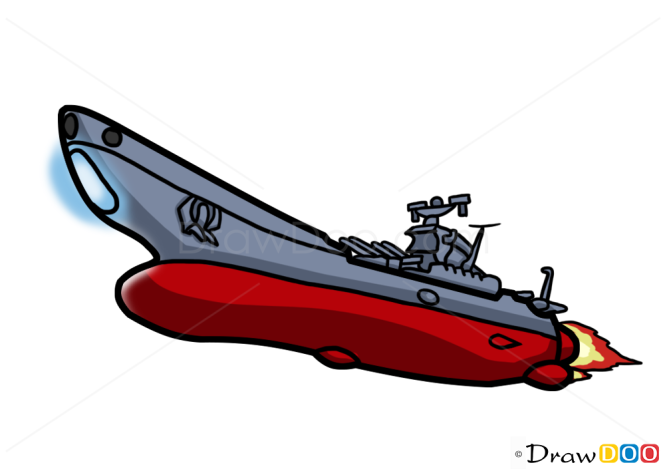 How to Draw Battleship Yamato, Spaceships