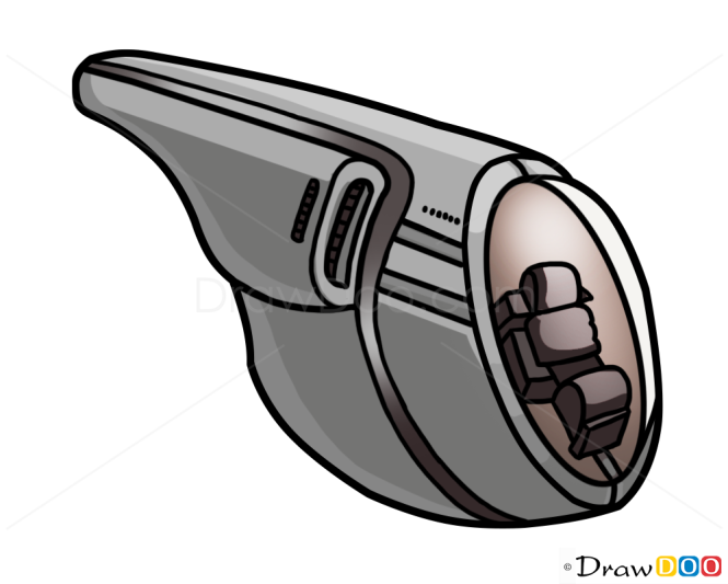 How to Draw Delta Pod, Planet of the Apes, Spaceships