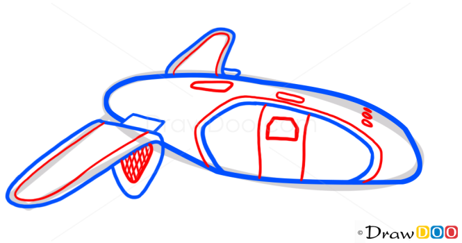 How to Draw Buggati shuttle, Elysium, Spaceships