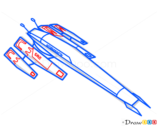 How to Draw Normandy, Mass Effect, Spaceships