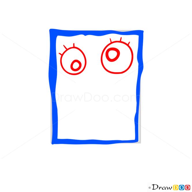 How to Draw Doodle Bob, Spongebob