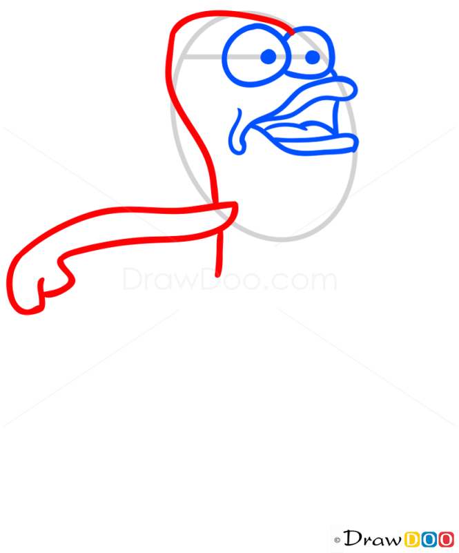 How to Draw Fred Rechid, Spongebob