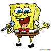How to Draw Spongebob Singing, Spongebob