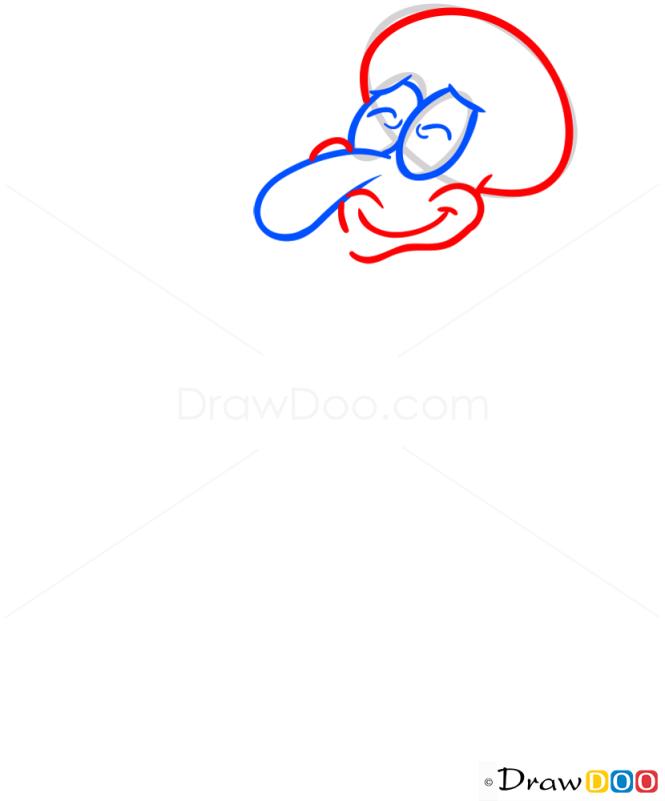 How to Draw Squidward, Spongebob