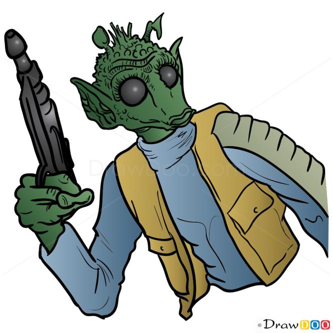 How to Draw Greedo, Star Wars