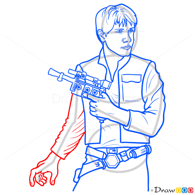 How to Draw Han Solo, Star Wars