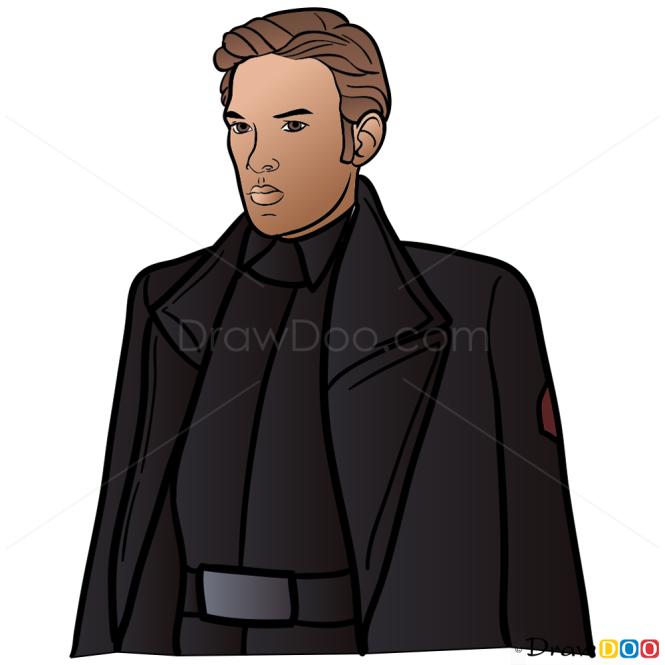 How to Draw Hux, Star Wars