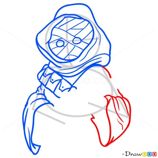 How to Draw Jawa, Star Wars