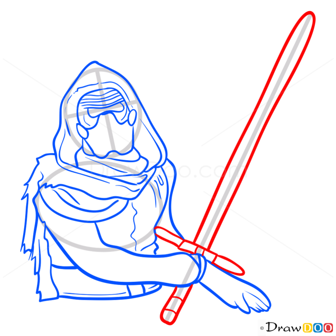 How to Draw Kylo, Star Wars