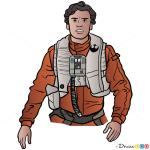 How to Draw Poe Dameron, Star Wars