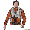 How to Draw Poe Dameron, Star Wars