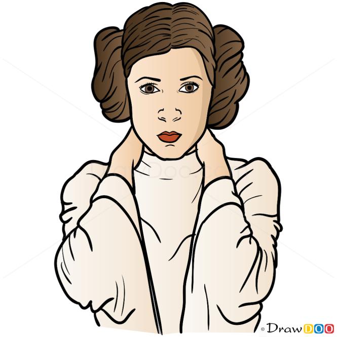 How to Draw Princess Leia, Star Wars