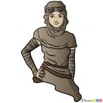 How to Draw Rey, Star Wars