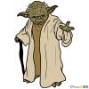 How to draw yoda star wars