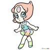 How to Draw Chibi Pearl, Steven Universe