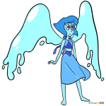 How to Draw Lapis Lazuli, Steven Universe