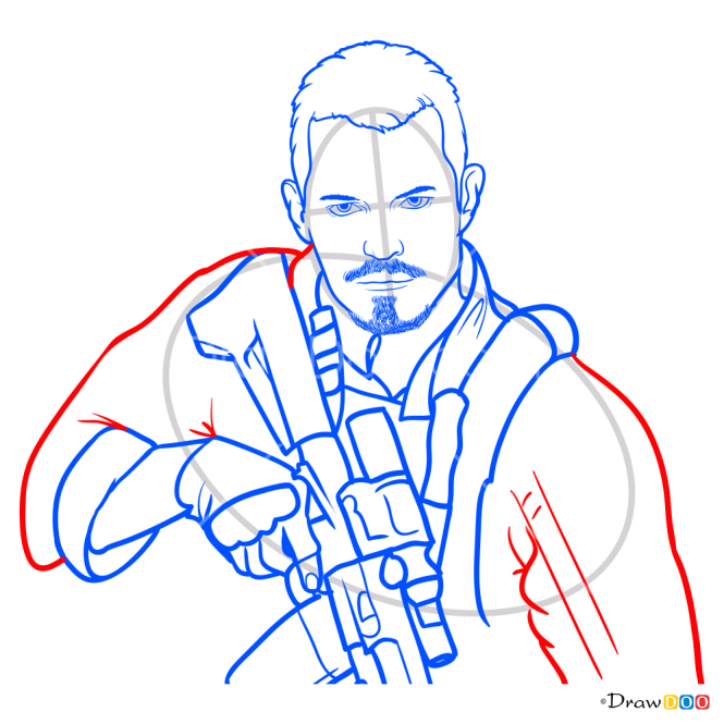 How to Draw Rick Flag, Suicide Squad