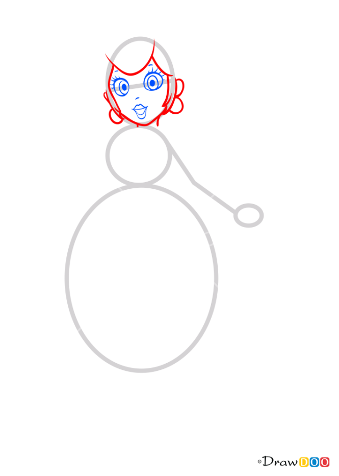 How to Draw Peach, Super Mario
