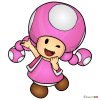 How to Draw Toadette, Super Mario