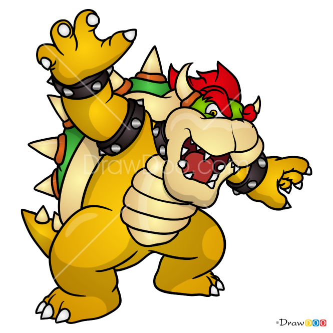 How To Draw Bowser Super Mario