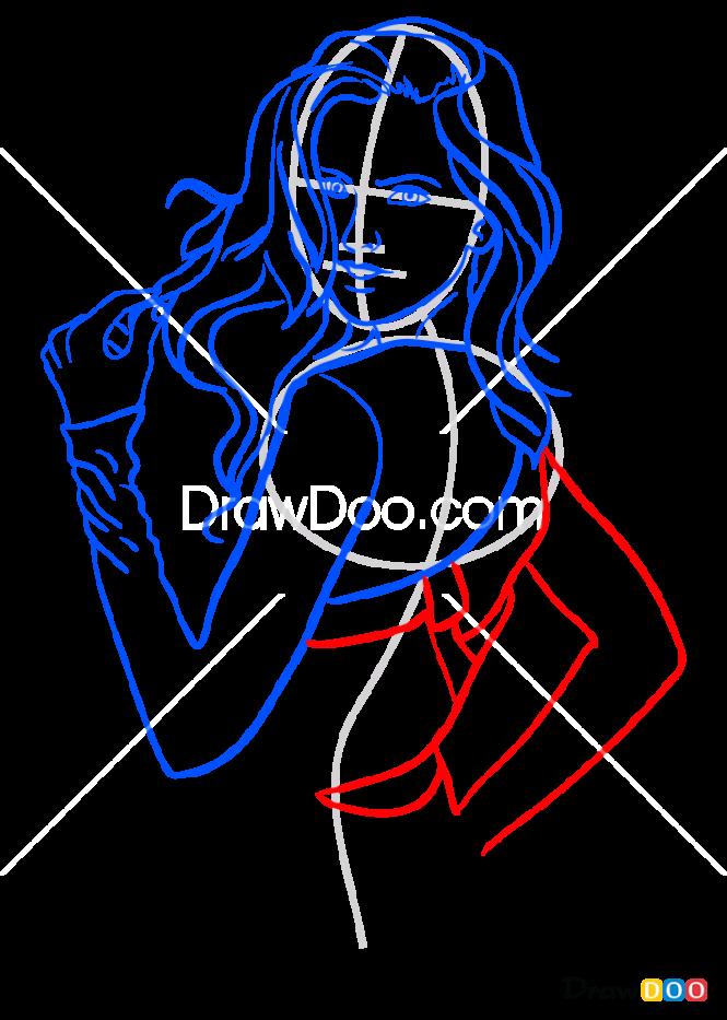 How to Draw Iza Goulart, Supermodels