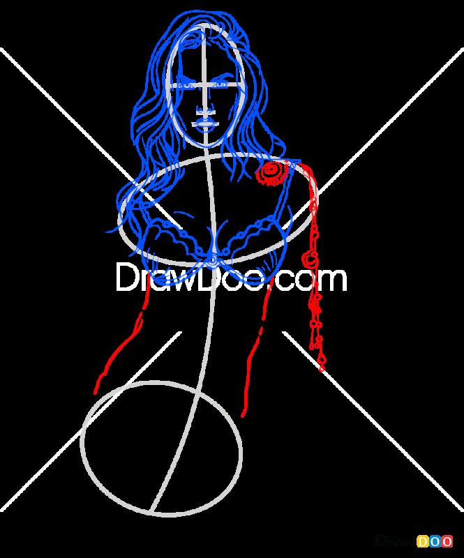 How to Draw Alessandra Abrosio, Supermodels