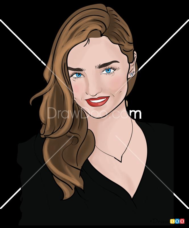 How to Draw Miranda Kerr, Supermodels