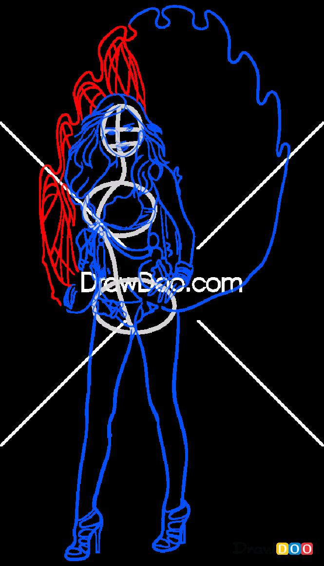 How to Draw Miranda, Supermodels
