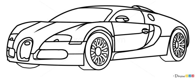 How To Draw Bugatti Veyron Supercars