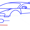 How to Draw Bugatti Veyron, Supercars