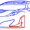 How to Draw McLaren MP4-12C white, Supercars