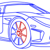 How to Draw Koenigsegg CC8S, Supercars