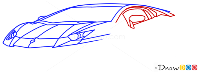 how to draw v8 supercars step by step