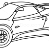 How to Draw Pagani Zonda C12, Supercars