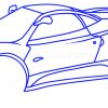 How to Draw Pagani Zonda C12, Supercars
