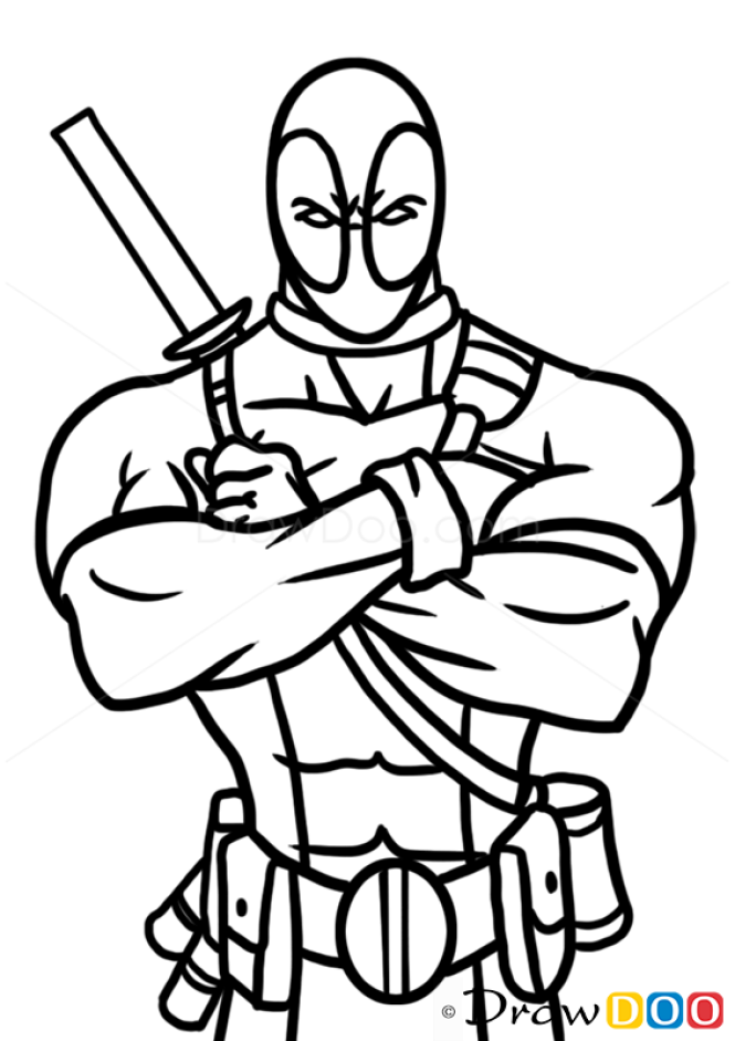 how to draw deadpool superheroes