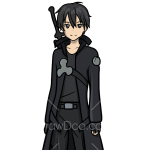 How to Draw Kirito, Sword Art Online
