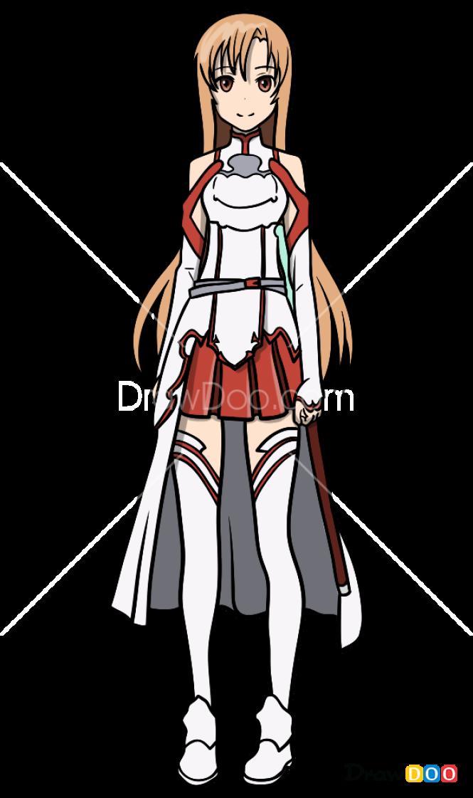 How to Draw Asuna, Sword Art Online