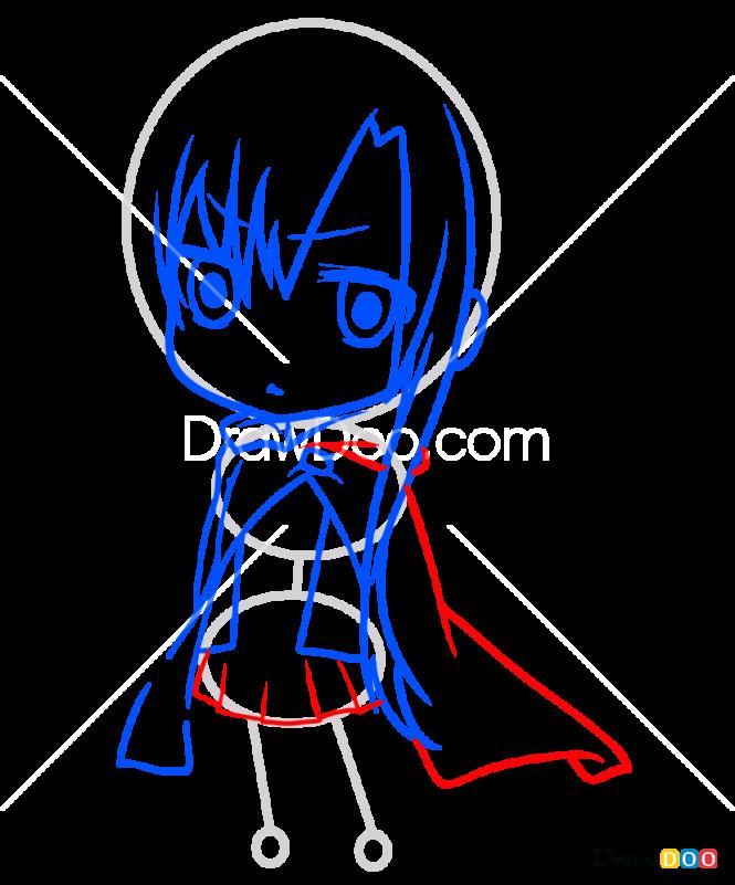 How to Draw Asuna Chibi, Sword Art Online