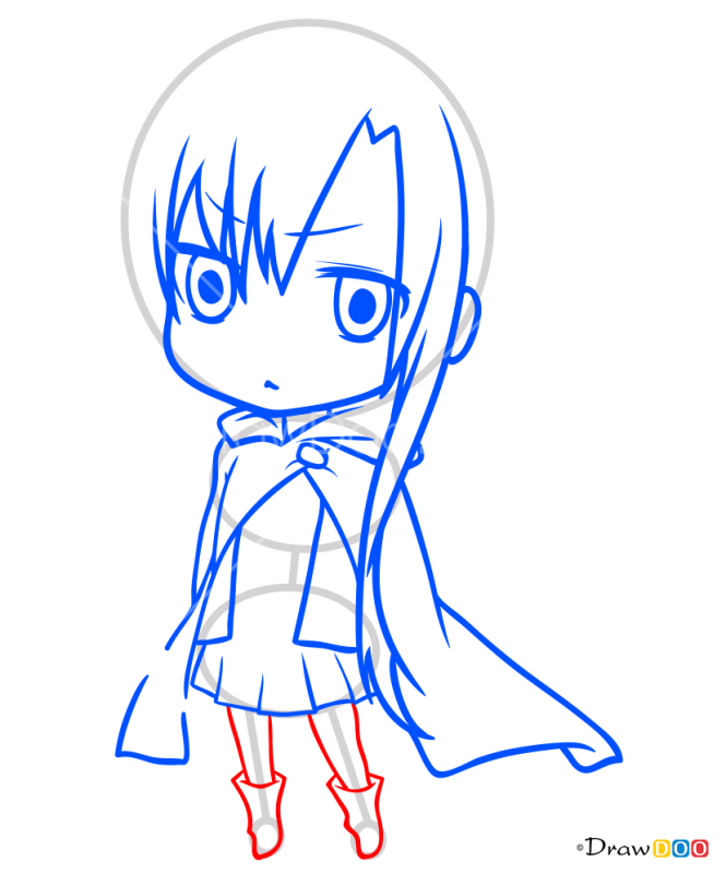 How to Draw Asuna Chibi, Sword Art Online