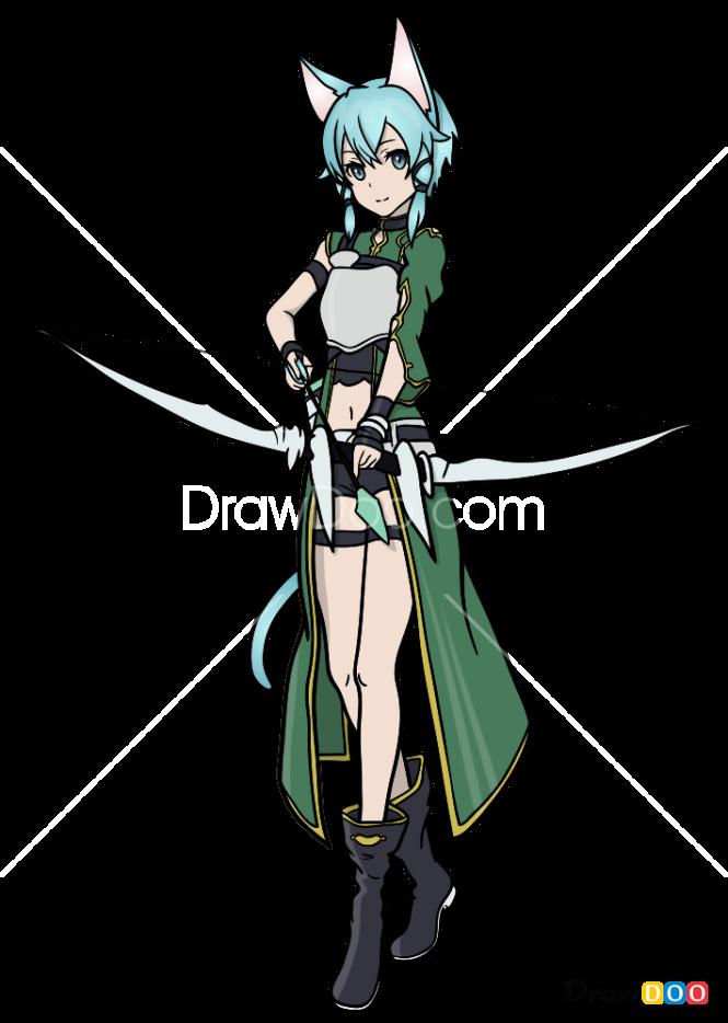 How to Draw Sinon, Sword Art Online